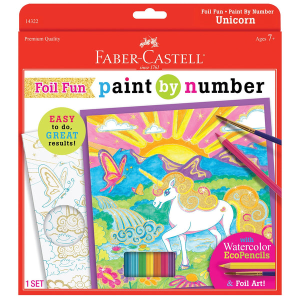 Paint By Number Unicorn Foil Fun Kit