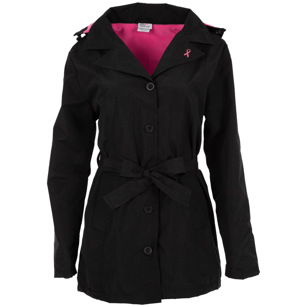 Pink Ribbon Fleece Lined Rain Jacket