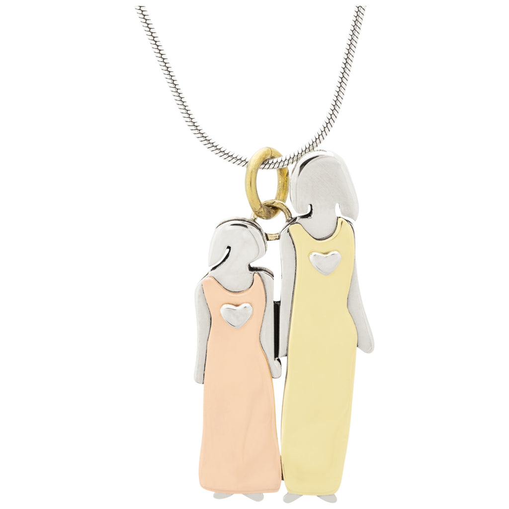 Mother & Daughter Mixed Metals Necklace