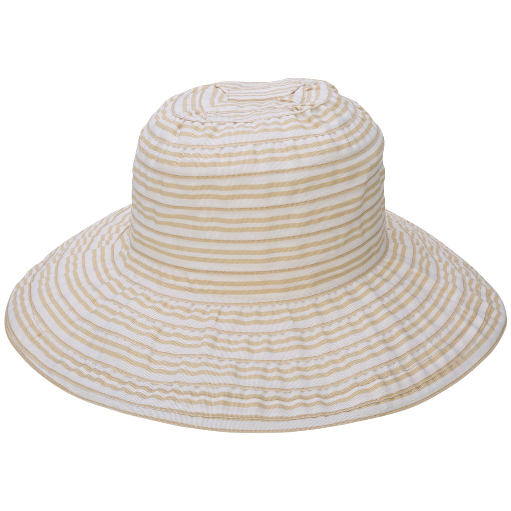 Striped Ribbon Sun Hat