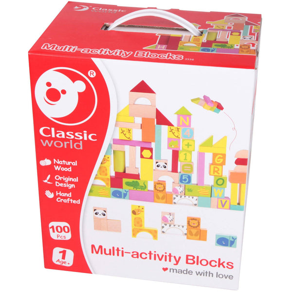 Wooden Multi-Activity Zoo Block Set