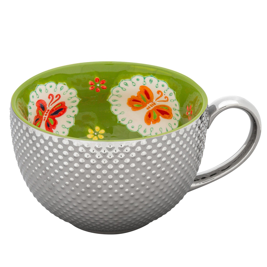 Touch Of Shine Floral Print Mug