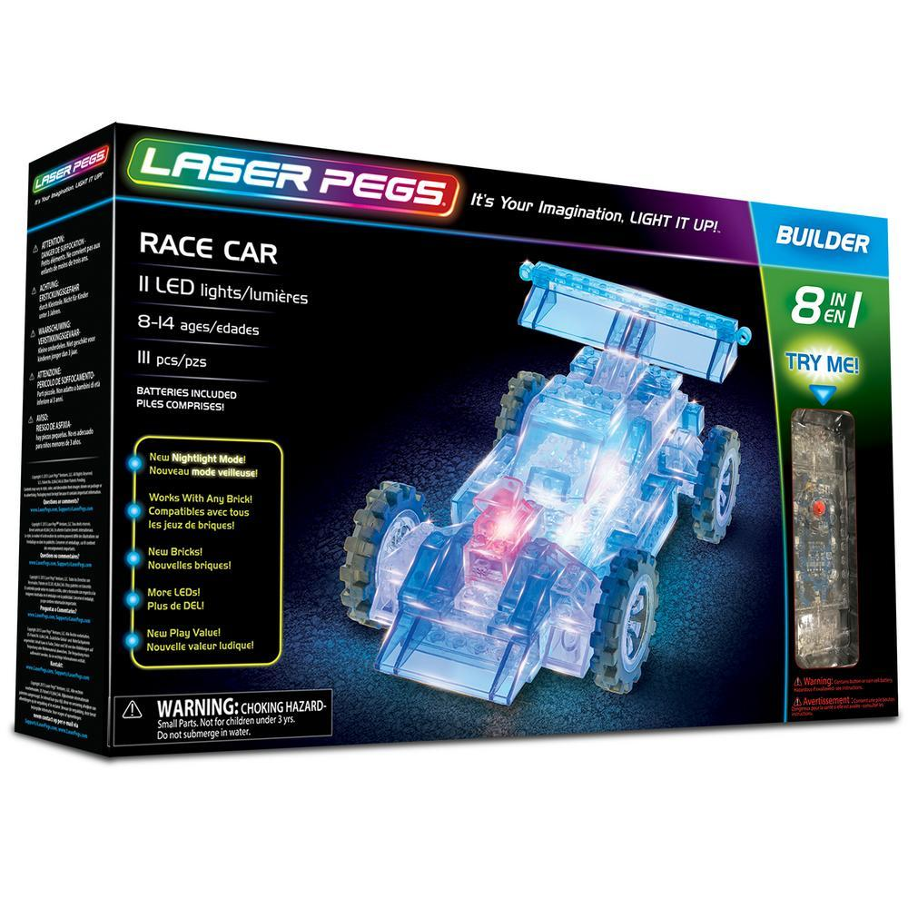 Laser Pegs® 8 In 1 Race Car Set