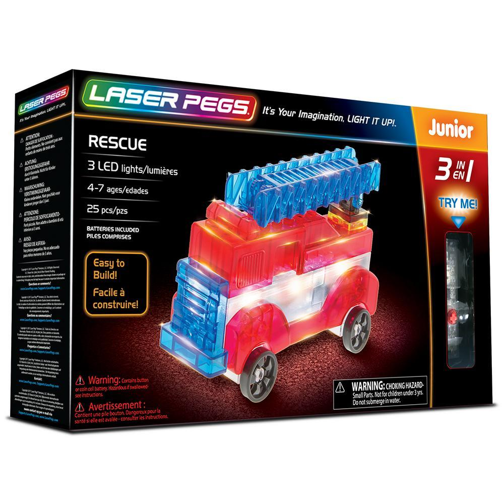 Laser Pegs® 3 In 1 Junior Rescue Set