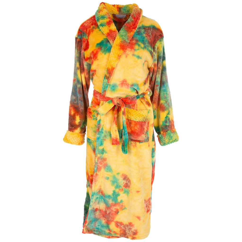 Super Cozy™ Fleece Tie-Dye Bathrobe