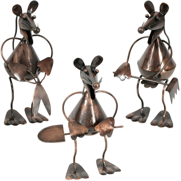 Recycled Metal Garden Mouse