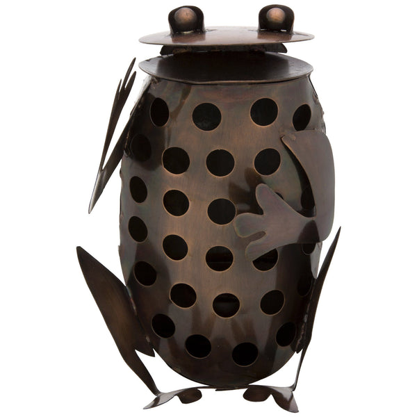 Recycled Metal Frog Luminary