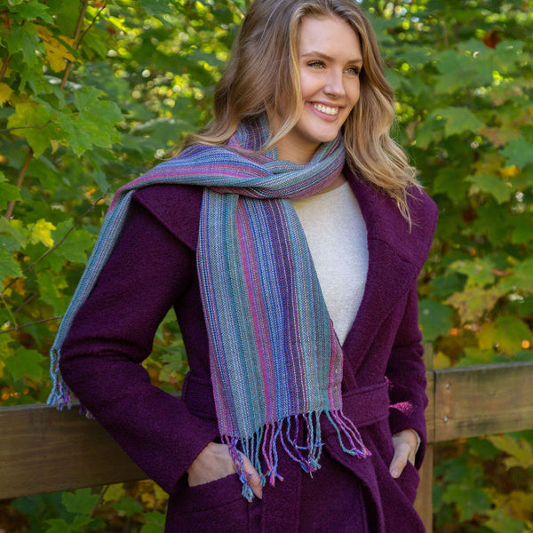 Alpaca Striped Scarf