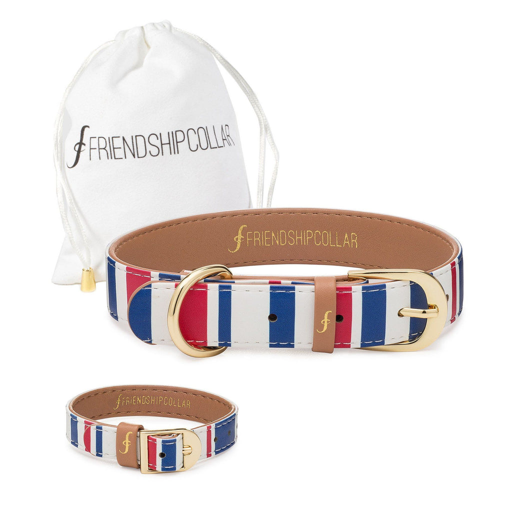 Nautical Pup Friendship Collar & Bracelet Set