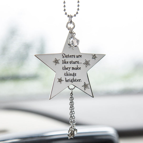 Sisters Are Like Stars Car Charm