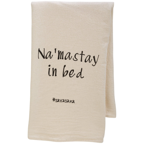 Na'Mastay In Bed Flour Sack Dish Towel