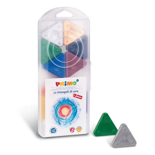 Primo® 12 Triangle Wax Crayons