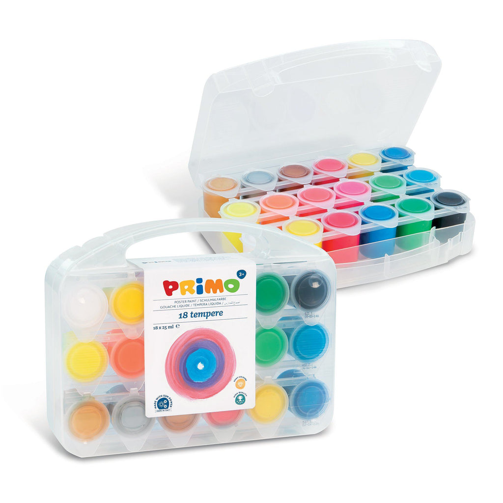 Primo® 18 Color Poster Paints In Carrying Case