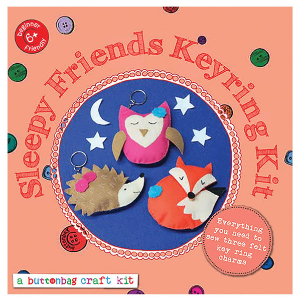 Sleepy Friends Keyring Sewing Kit