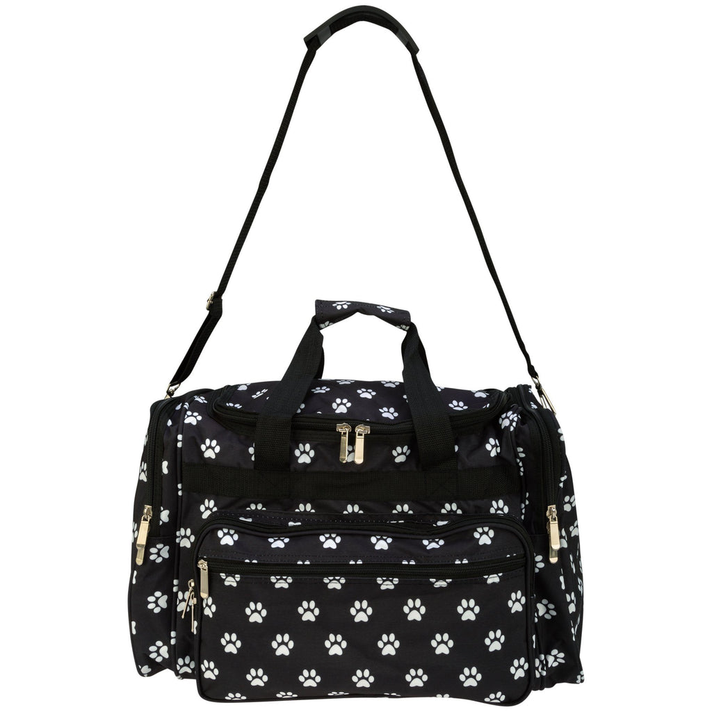 I Love Paw Prints Duffel Bag