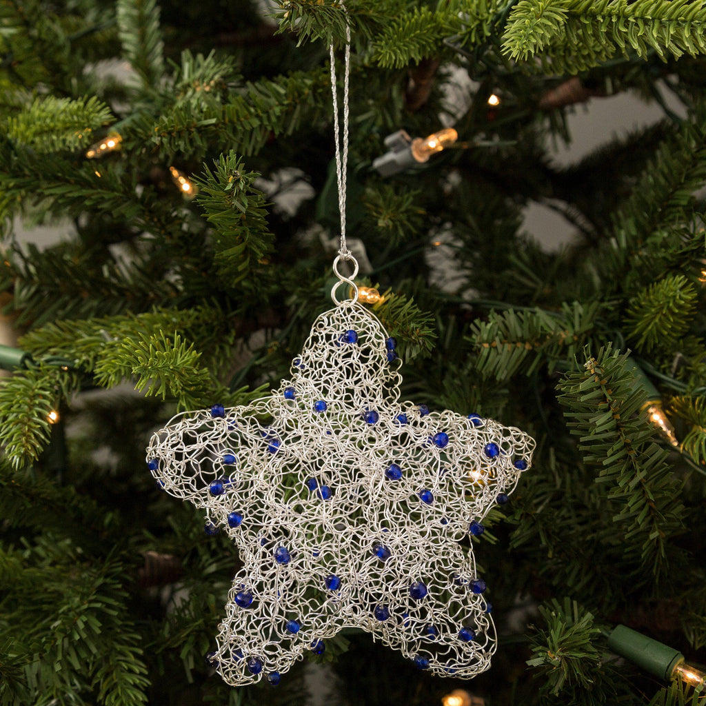 Recycled Wire Star Ornament
