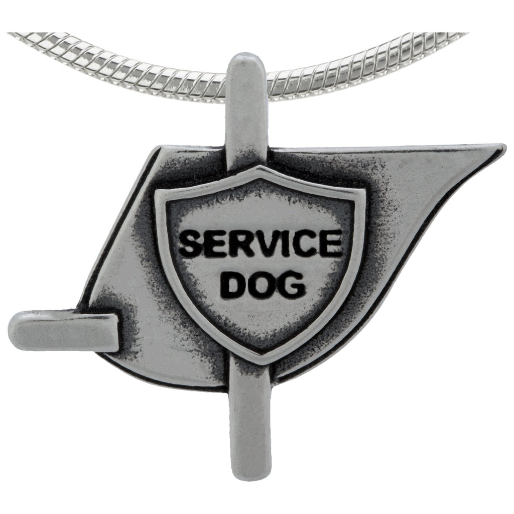 Recycled Sterling Dog Vest Necklace