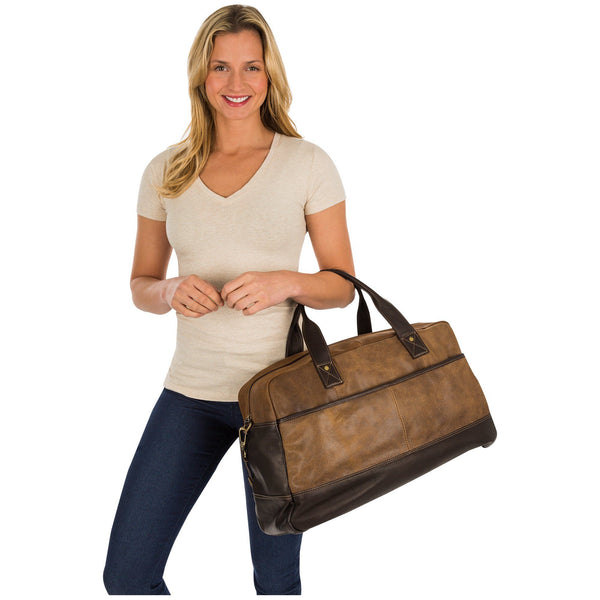 Metro Leather Weekender Bag