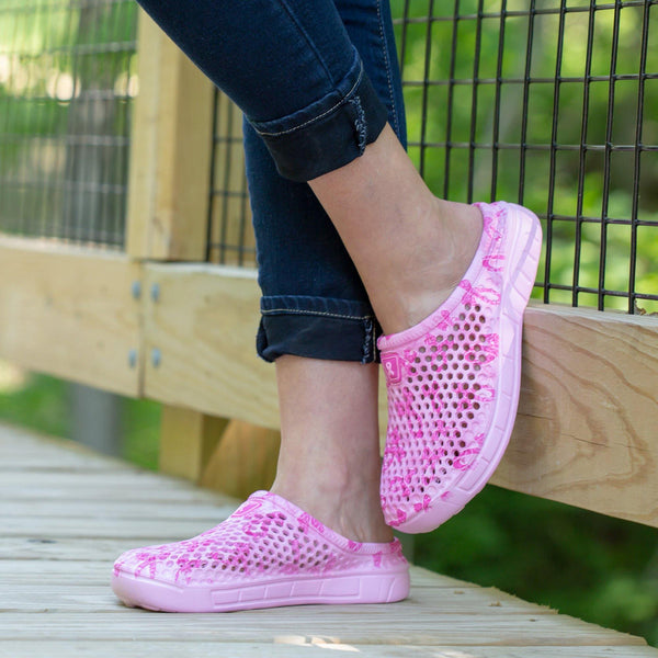 Pink Ribbon Clogs