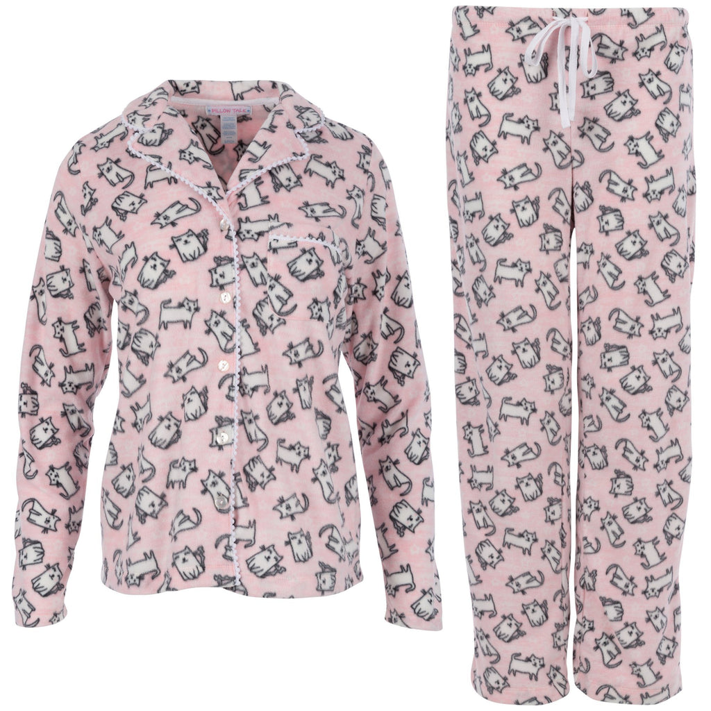 Cozy Cat Fleece Pajama Set