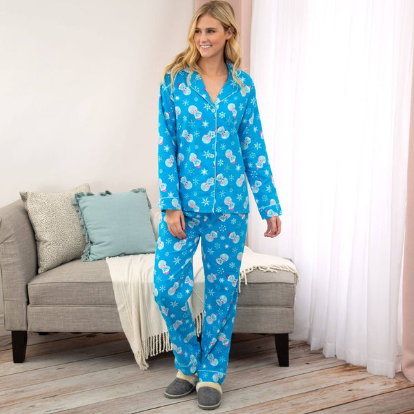 Snowman Pet Flannel Pajama Set