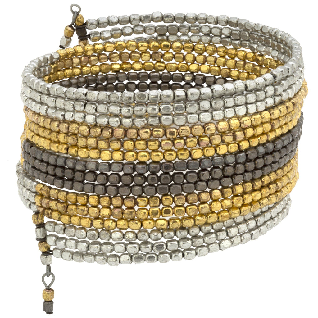 Metallic Serpent Wrap Bracelet