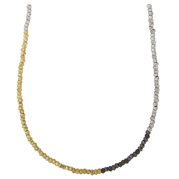 Metallic Colorblock Necklace