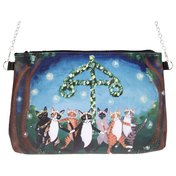 Dancing Cats In Forest Clutch Bag