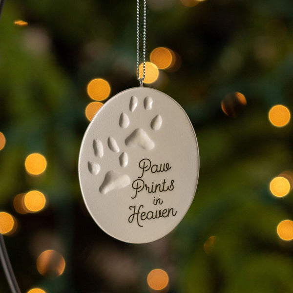 Paw Prints In Heaven Ornament