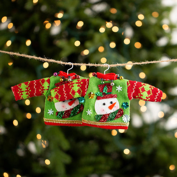 Holiday Ugly Sweater Ornament Set