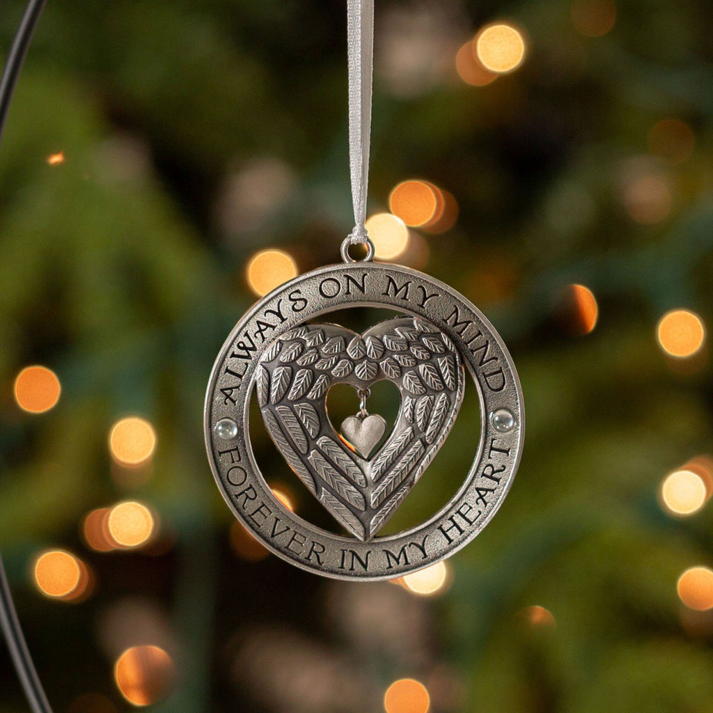 In Loving Memory Angel Wings Ornament
