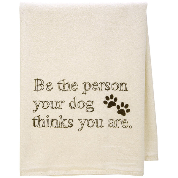 Be The Person Dog Dish Towel