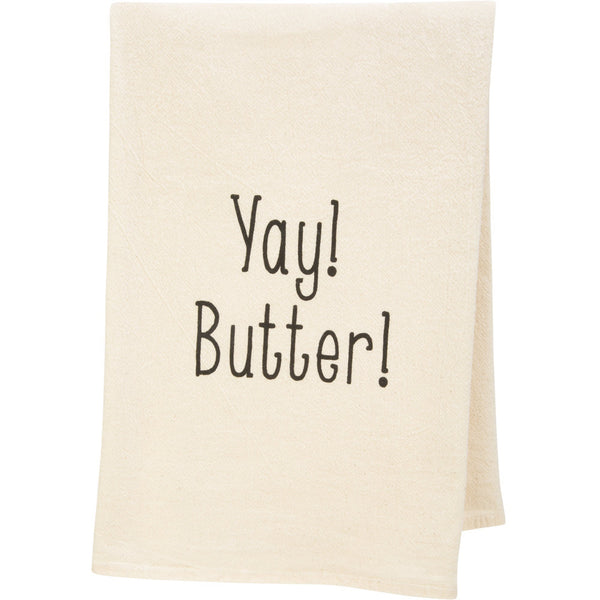 Yay! Butter! Tea Towel