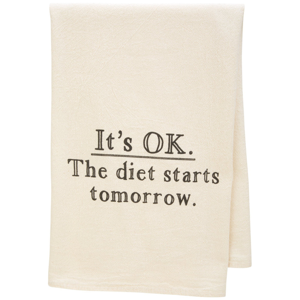 Diet Starts Tomorrow Tea Towel