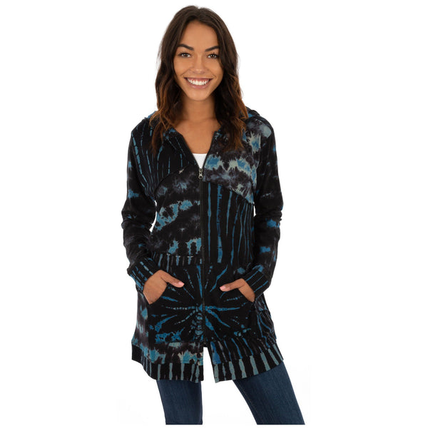 Ink Outside The Box Zip Tunic Hoodie