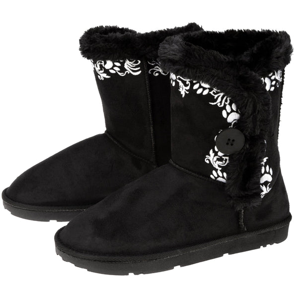Swirling Vine Paw Print Boots