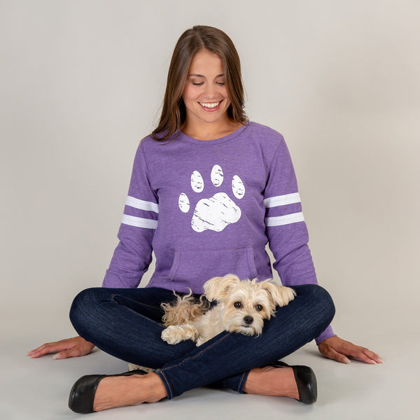 Paw Stripe Thermal Long Sleeve Top
