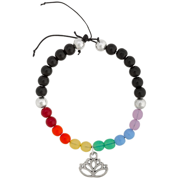 Promo - PROMO - Rainbow Lotus Adjustable Bracelet