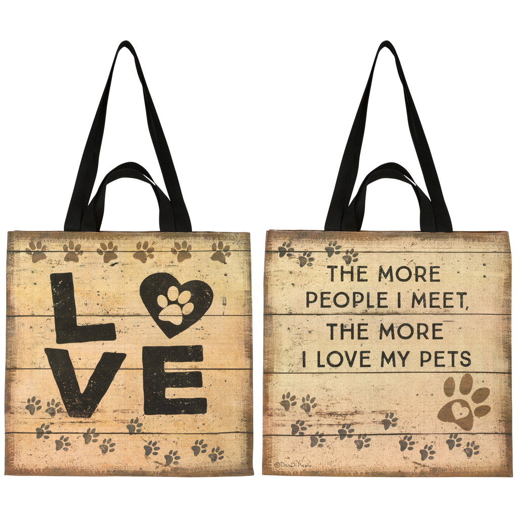 PROMO - Primitives Market Tote - Love My Pets