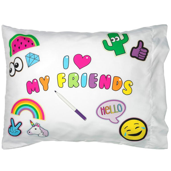 I Love My Friends Autograph Pillowcase