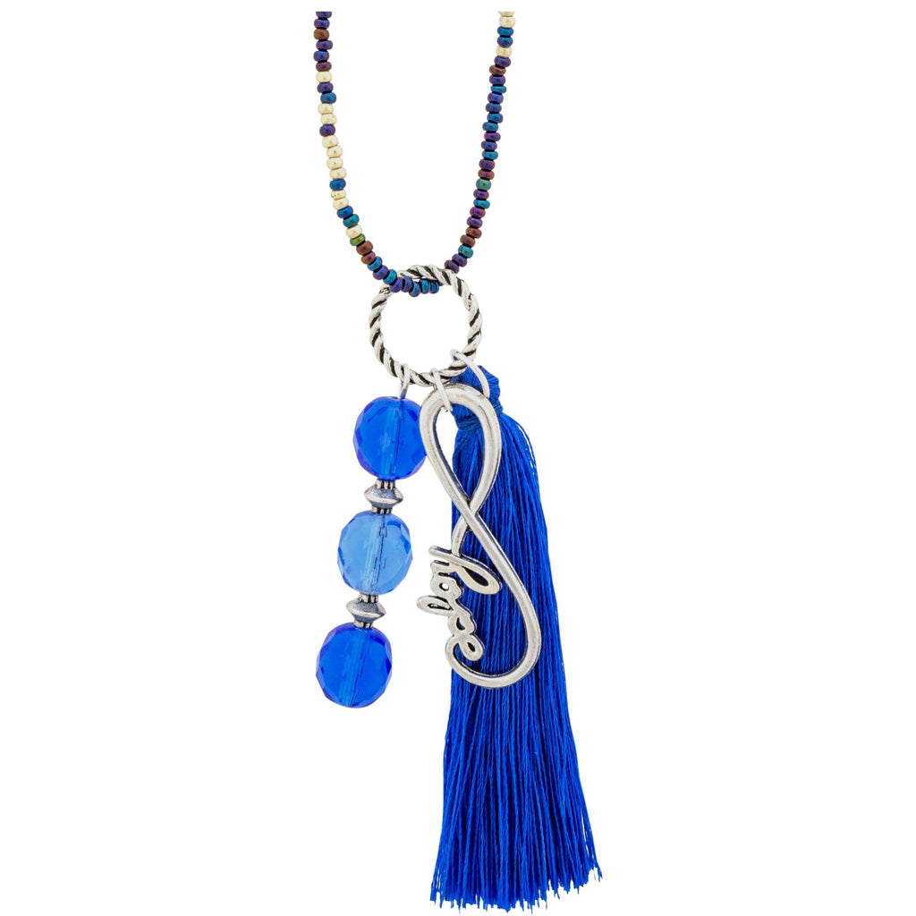 Promo - PROMO - Blue Hope Beaded Bag Charm