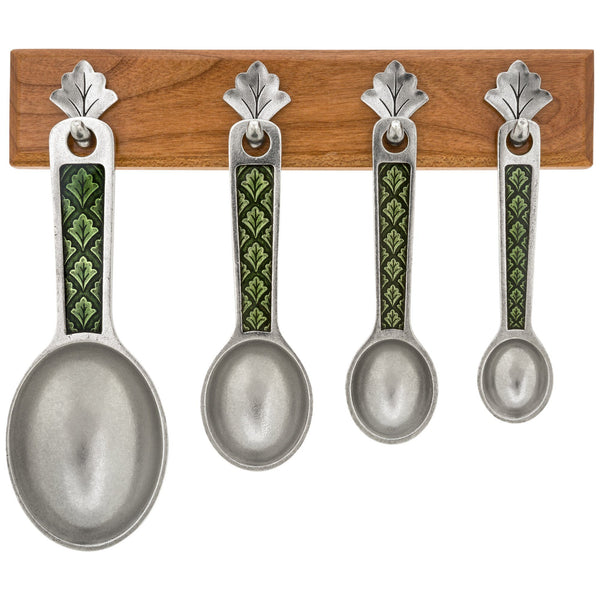 Leafy Green Measuring Spoons & Holder
