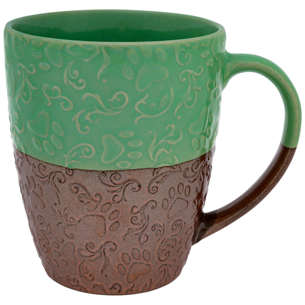Pawsitively Beautiful Embossed Mug