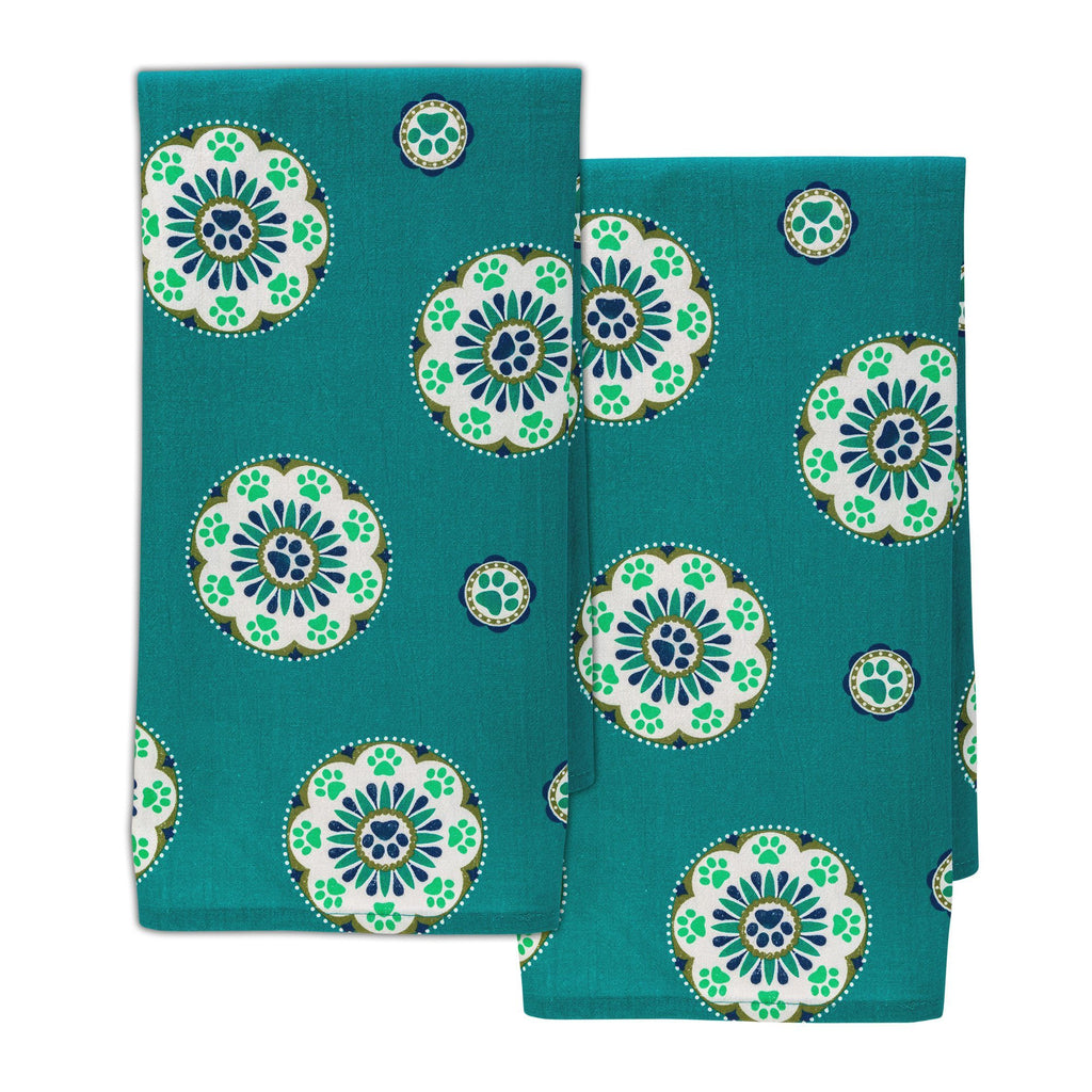 Paw Medallion Kitchen Towel Set
