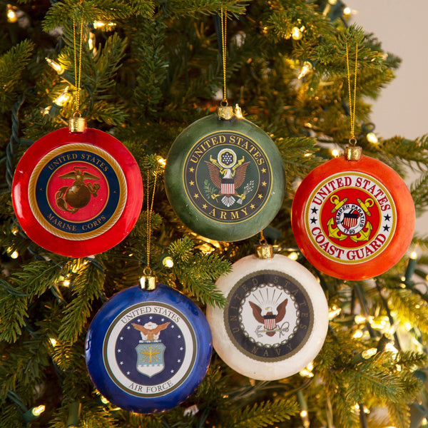 Salute To Service Capiz Ornament