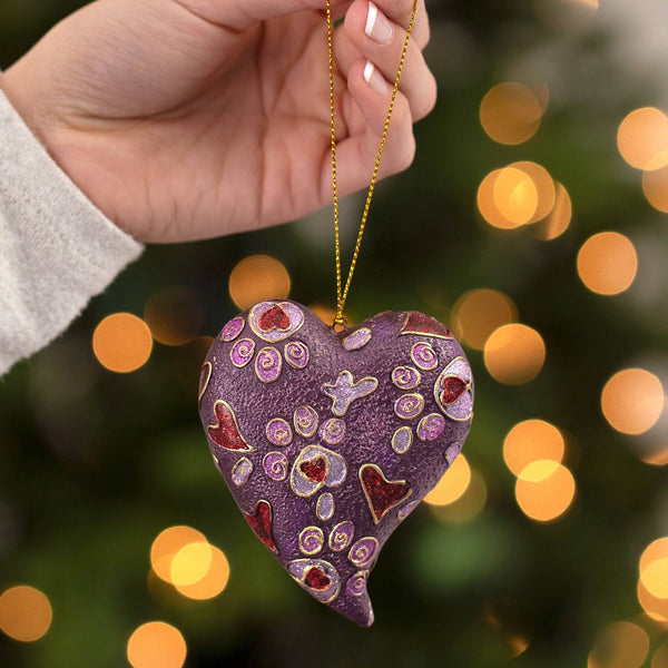 Jewel Tone Paw Print Ornament