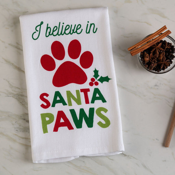 I Believe In Santa Paws Kitchen Towel