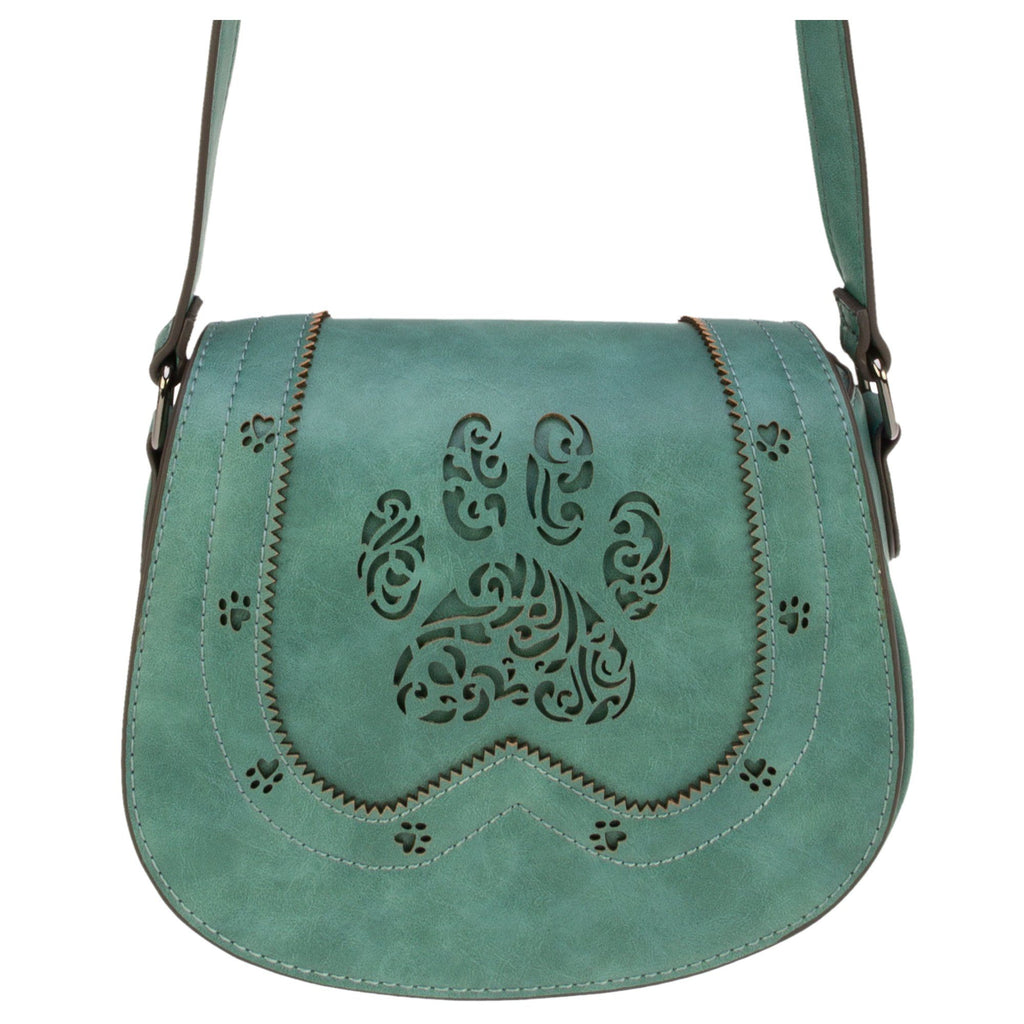 Paw Crossbody Petite Saddle Bag
