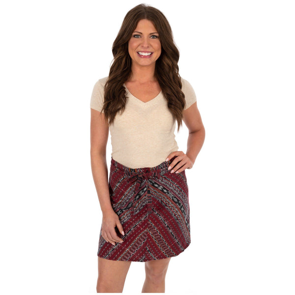 Guatemalan Wrap Mini Skirt