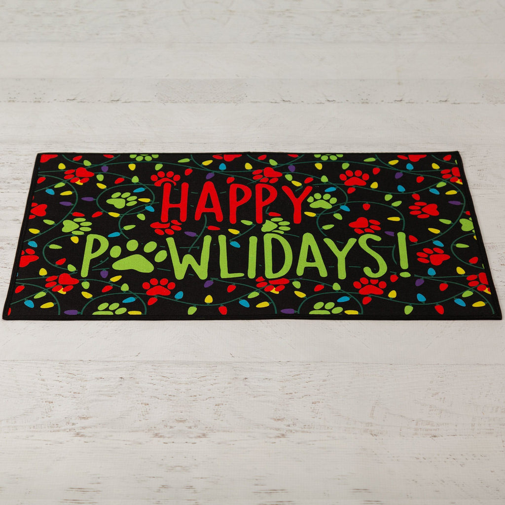 Happy Pawlidays Indoor/Outdoor Mat